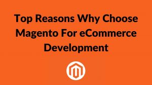 Most Important Reasons Why Choose Magento For Ecommerce Website Development